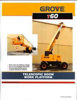 Telescopic boom lift-Grove-T60
