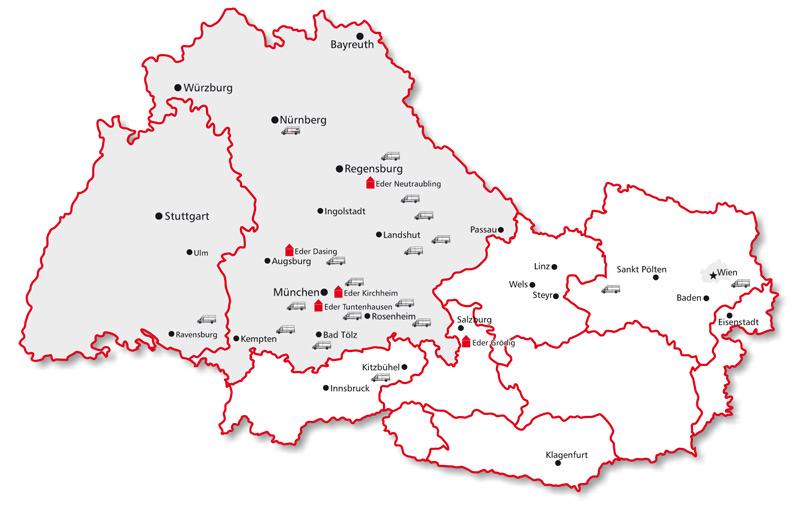Karte Bayern österreich